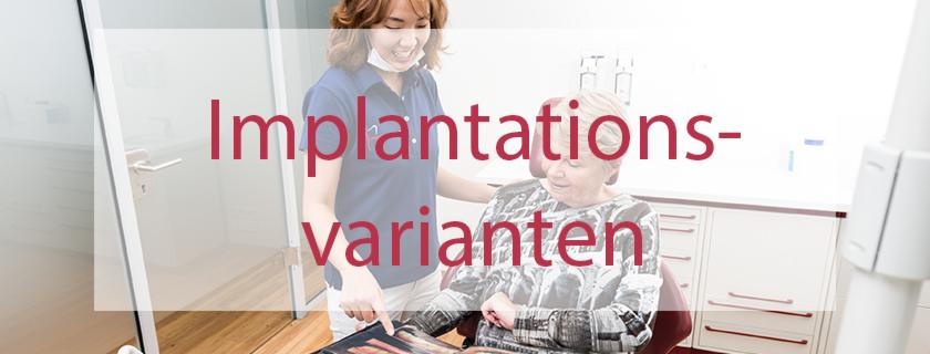 Implantationsvarianten